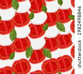 pattern with tomato and...   Shutterstock .eps vector #1982498846