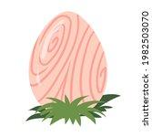 dinosaur egg on the grass....   Shutterstock .eps vector #1982503070