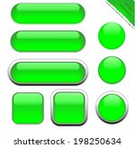 blank green web buttons for... | Shutterstock .eps vector #198250634