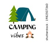 camping vibes vector... | Shutterstock .eps vector #1982507360