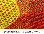 A Rope Net With A Blurred...
