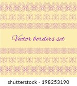 set of vintage borders made in... | Shutterstock .eps vector #198253190