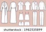 sleepwear vector isolated... | Shutterstock .eps vector #1982535899