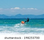 sportsman kite sergfer on clean ... | Shutterstock . vector #198253700