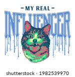 my real influencer dripping ink ... | Shutterstock . vector #1982539970