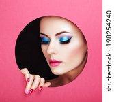 conceptual beauty portrait of... | Shutterstock . vector #198254240