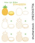 how to draw a pineapple vector... | Shutterstock .eps vector #1982543756