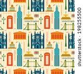 seamless pattern with landmarks ... | Shutterstock .eps vector #198255500