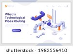 landing page template with...   Shutterstock .eps vector #1982556410