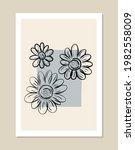 botanical wall art vector set.... | Shutterstock .eps vector #1982558009