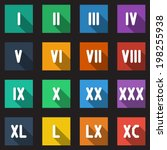 roman numbers and math symbols... | Shutterstock .eps vector #198255938