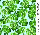 vector tropical seamless... | Shutterstock .eps vector #1982563883
