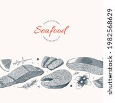 seaf ish and seafood restaurant ...   Shutterstock .eps vector #1982568629