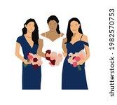 bridesmaids illustration vector ...   Shutterstock .eps vector #1982570753