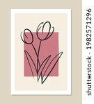 botanical vector wall art.... | Shutterstock .eps vector #1982571296