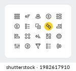 sorting vector line icons....
