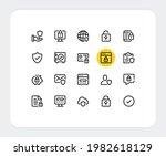 data protection vector line... | Shutterstock .eps vector #1982618129