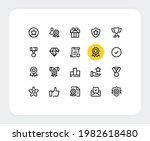 awards vector line icons.... | Shutterstock .eps vector #1982618480