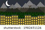 flat landscape illustration... | Shutterstock .eps vector #1982651126