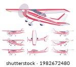 light aircraft  red stripe...   Shutterstock .eps vector #1982672480