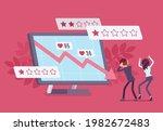 negative online reputation...   Shutterstock .eps vector #1982672483