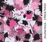 grunge pink camouflage  modern... | Shutterstock .eps vector #1982674433
