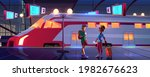 people on railroad station... | Shutterstock .eps vector #1982676623