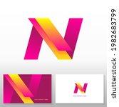 letter n logo design   abstract ...   Shutterstock .eps vector #1982683799