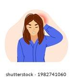 woman suffering from migraine... | Shutterstock .eps vector #1982741060