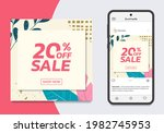 social media sale post design...   Shutterstock .eps vector #1982745953