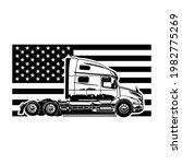 american semi truck on the...   Shutterstock .eps vector #1982775269