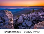 Sunrise over the Blue Ridge Mountains from Blackrock Summit, Shenandoah National Park, Virginia.