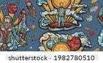 exploration of mars planet.... | Shutterstock .eps vector #1982780510