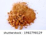 Coconut fluff or coconut husk chips for planting trees or vegetables.