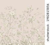 Mural. Bloom. Chinoiserie...
