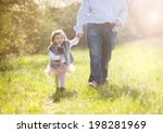 young father during morning... | Shutterstock . vector #198281969