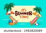 its summer time  summer beach... | Shutterstock .eps vector #1982820089
