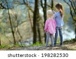 two little sisters taking a... | Shutterstock . vector #198282530