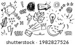 hand drawn set of curly swishes ... | Shutterstock .eps vector #1982827526