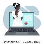 a faceless black woman in a...   Shutterstock .eps vector #1982831033