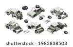 damaged cars. abandoned... | Shutterstock .eps vector #1982838503