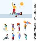 summer warm person. hot body...   Shutterstock .eps vector #1982838539