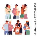 cartoon diverse woman man...   Shutterstock .eps vector #1982847350