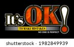 it's ok to make mistakes  no... | Shutterstock .eps vector #1982849939
