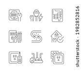 electrician service linear... | Shutterstock .eps vector #1982852816