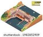 vector isometric hydroelectric...   Shutterstock .eps vector #1982852909