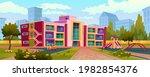 exterior of kindergarten... | Shutterstock .eps vector #1982854376