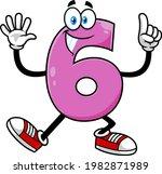 funny violet number six 6... | Shutterstock .eps vector #1982871989