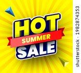 hot summer sale banner on... | Shutterstock .eps vector #1982874353