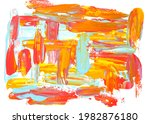 abstract art paint on white... | Shutterstock . vector #1982876180